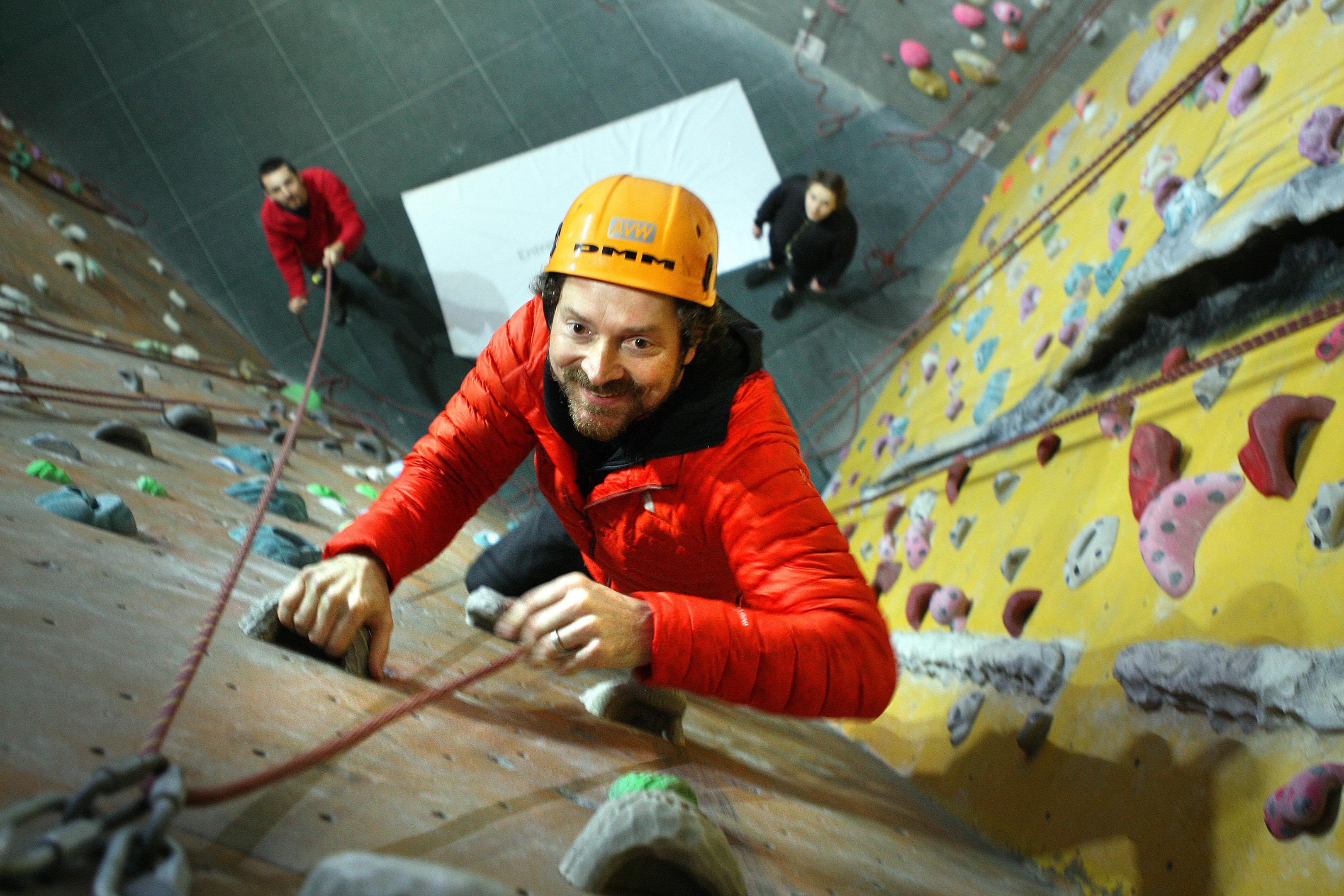 Chris van der Kuyl at Avertical World in Dundee.