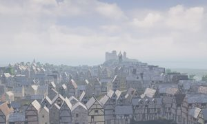 The reconstruction shows Edinburgh as it was almost 500 years ago.