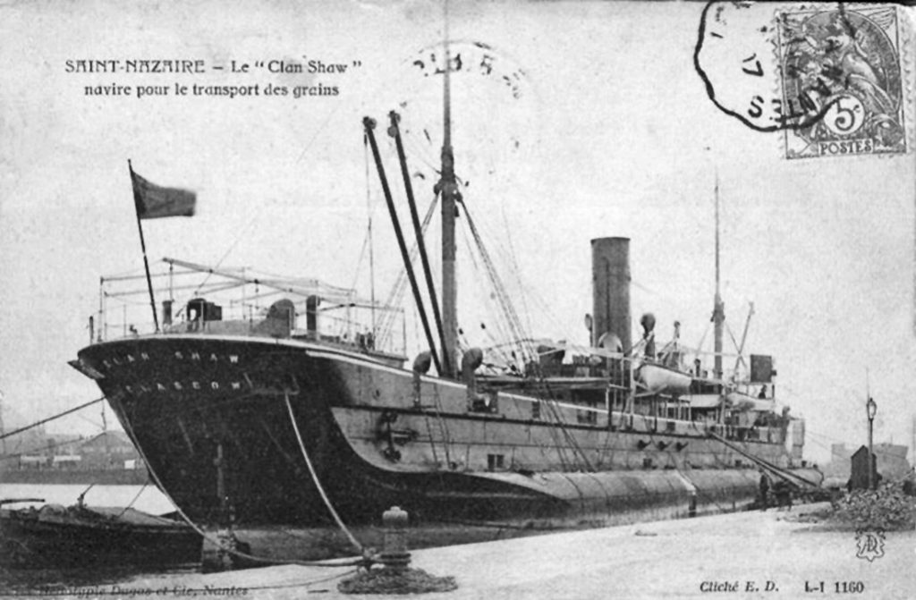 The jute liner Clan Shaw was wrecked at the entrance to the Tay in 1917 and became a shipping hazard that almost bankrupted the then harbour authority at Dundee