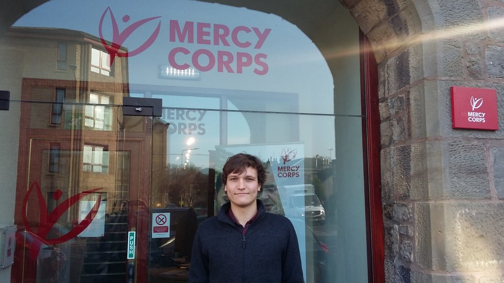Craig Cowan, from Perthshire, works for Mercy Corps