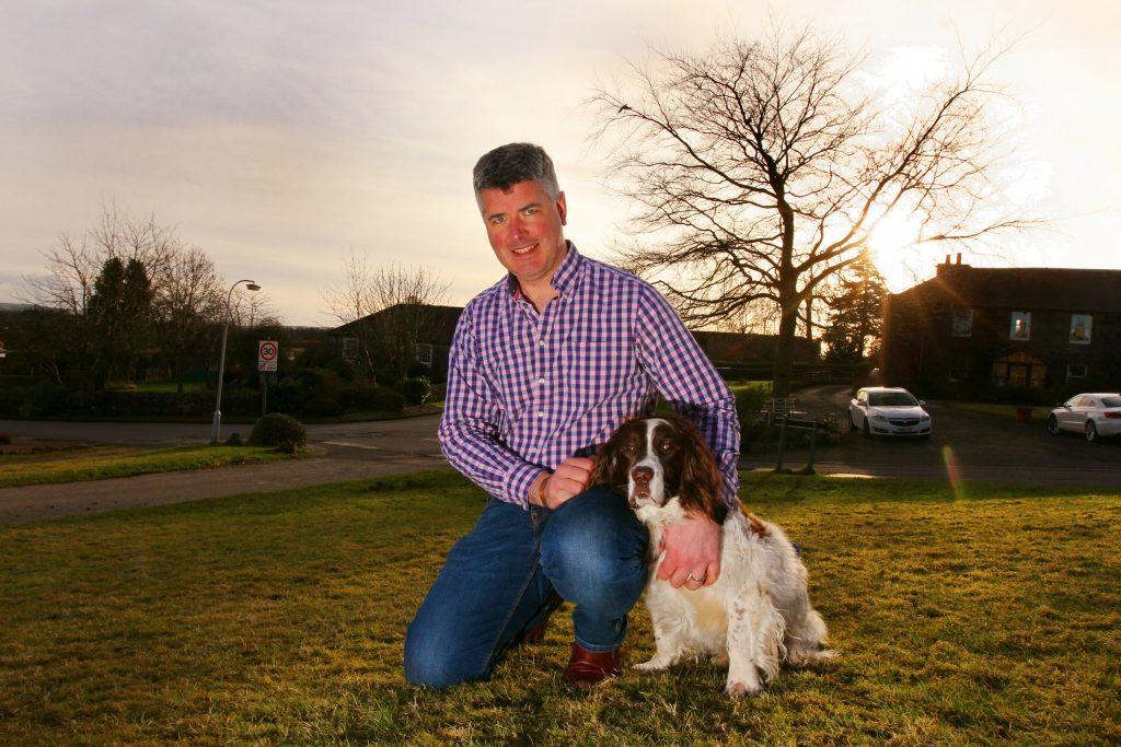 David Hamilton with his dog Rusty