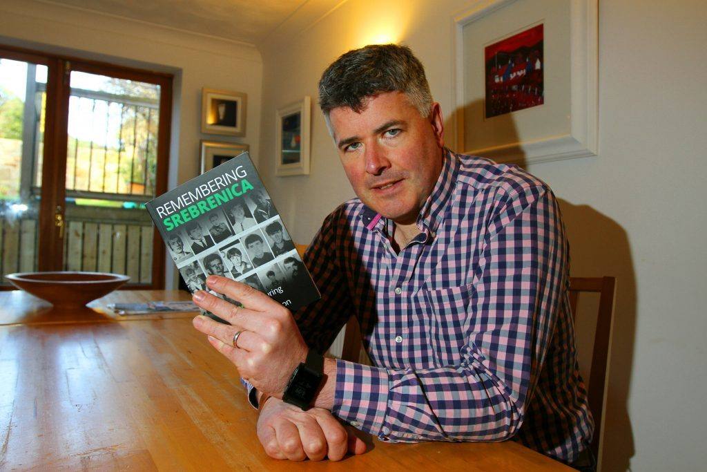 David Hamilton is a serving police officer and former aid worker who helps run the charity Remembering Srebrenica Scotland,