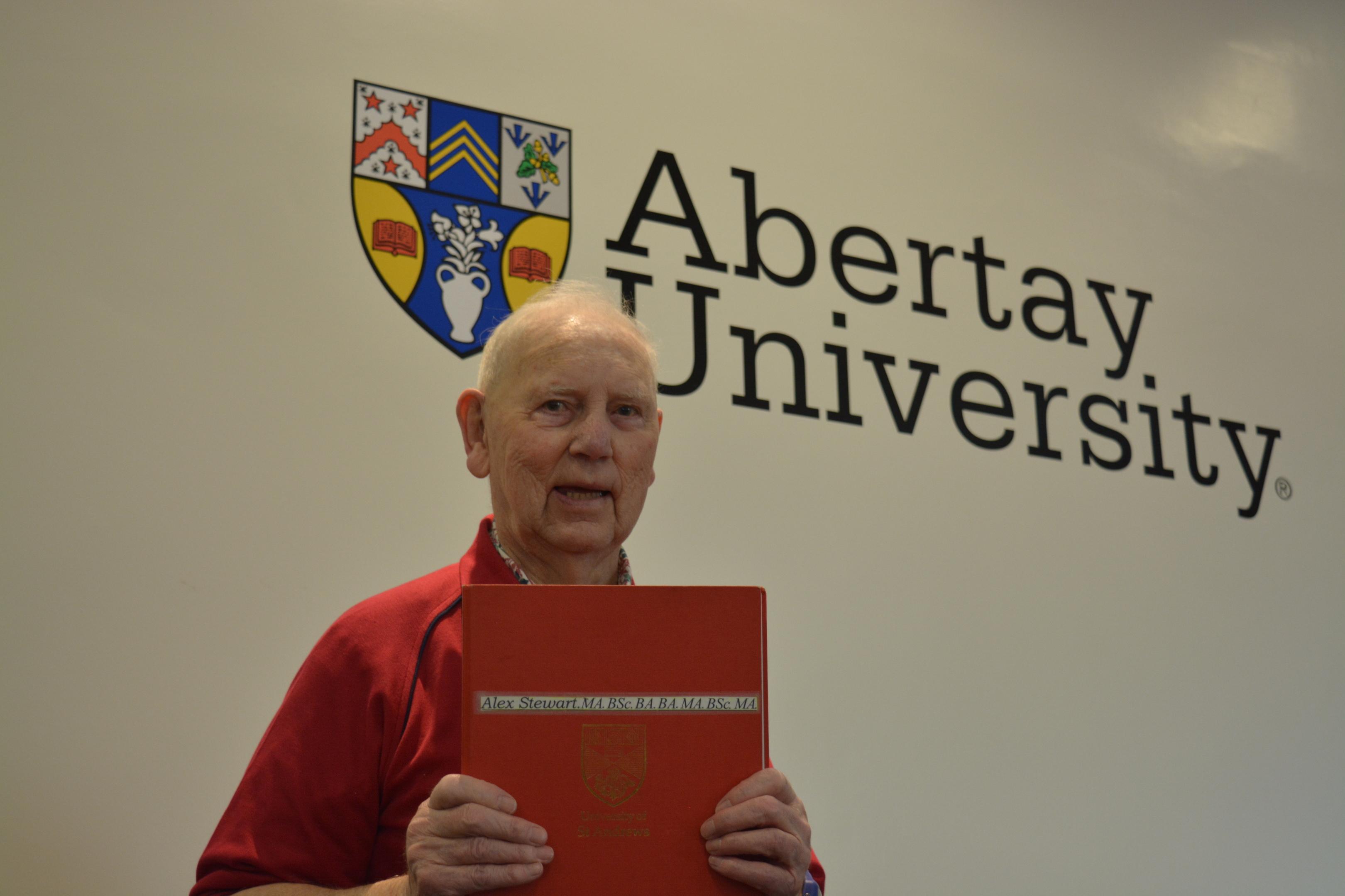 Alec at an Abertay University open day.