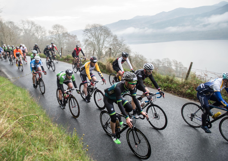 Riders enjoying Etape Caledonia 2016.