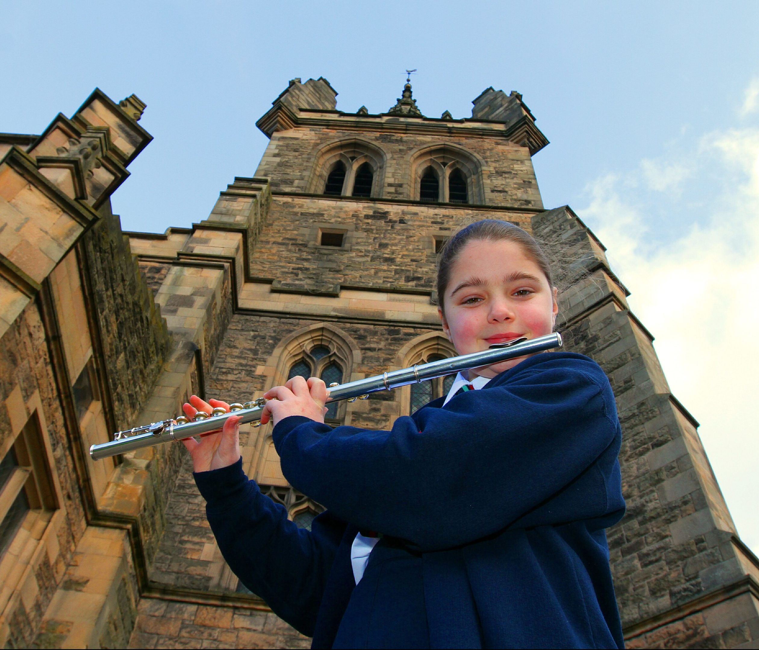 Honor Paul, 10, from Robert Douglas Primary,won the flute solo for beginners category
