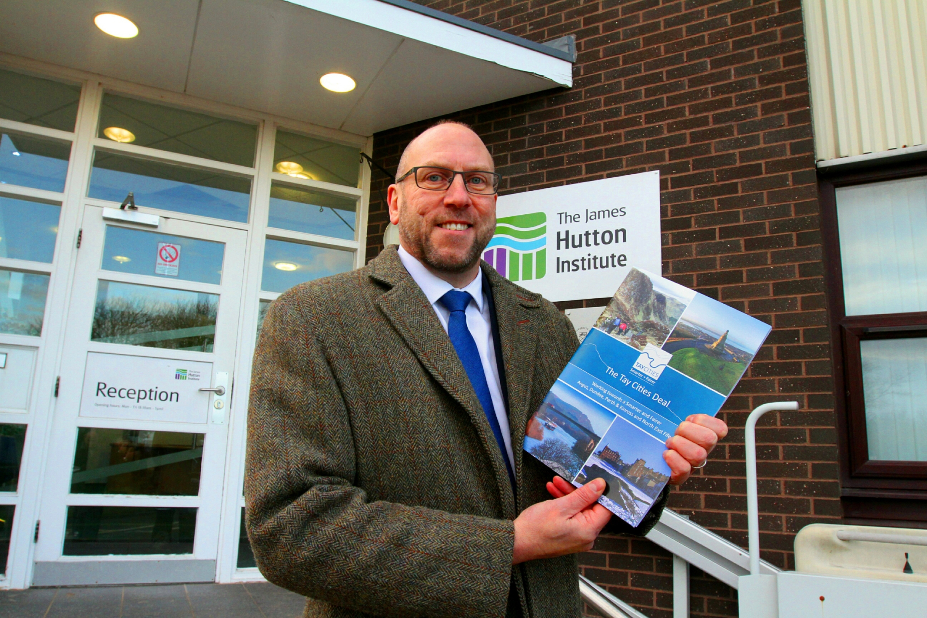 David Littlejohn, head of the Tay Cities Deal at the James Hutton Institute where the submission document was launched.