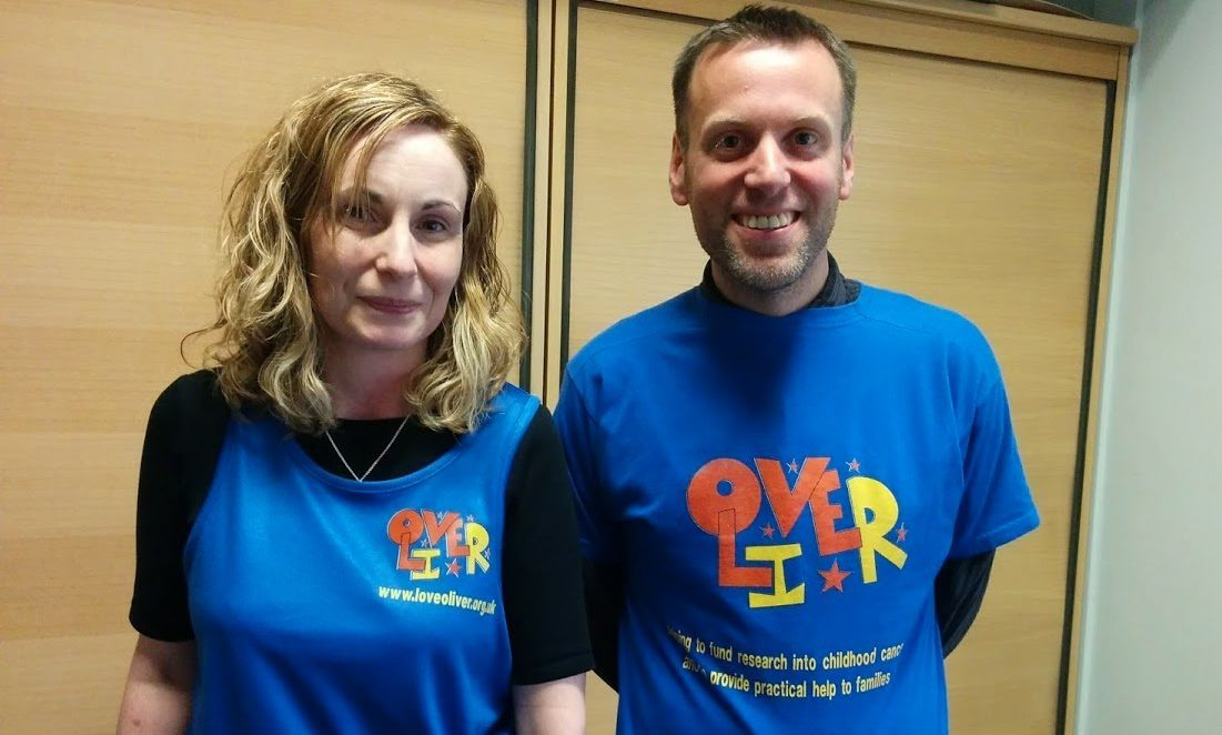 The Courier's Cheryl Peebles and Dave Lord will be proud to run the Edinburgh Half Marathon for LoveOliver.