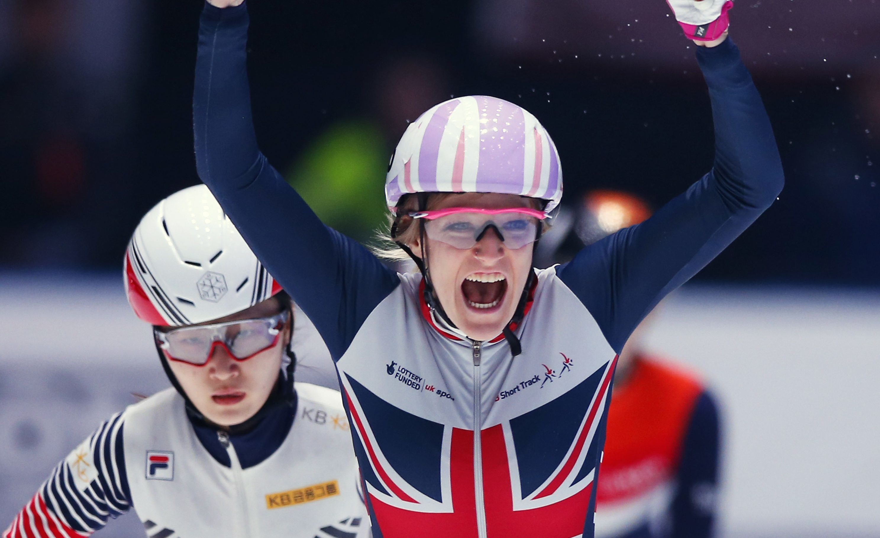 Elise Christie is a strong medal contender.