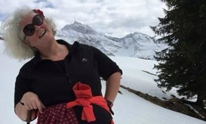 Stella McLoughlin just hours before she died in a tragic accident in Switzerland.