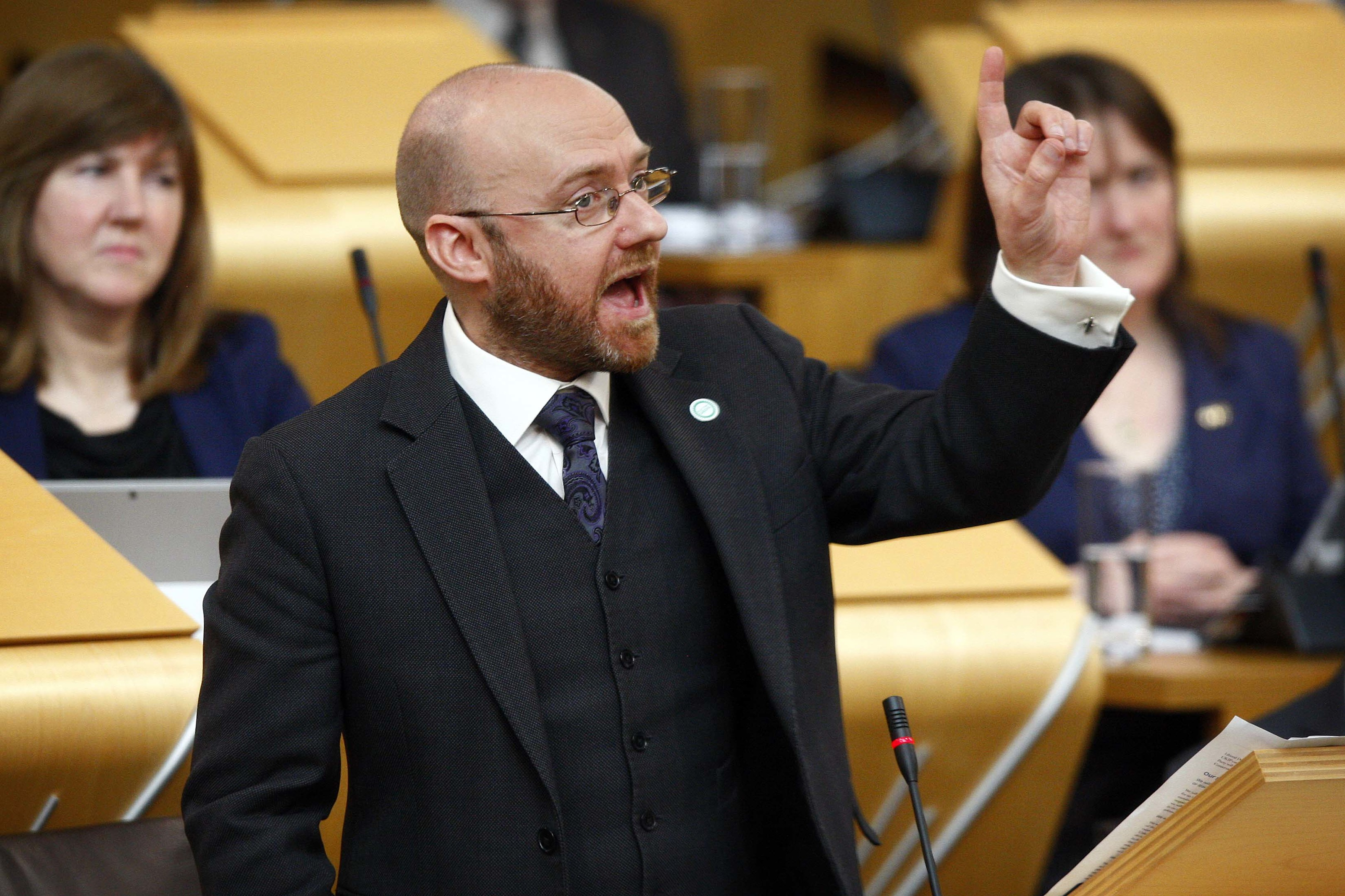 The Scottish Green Party's Patrick Harvie.