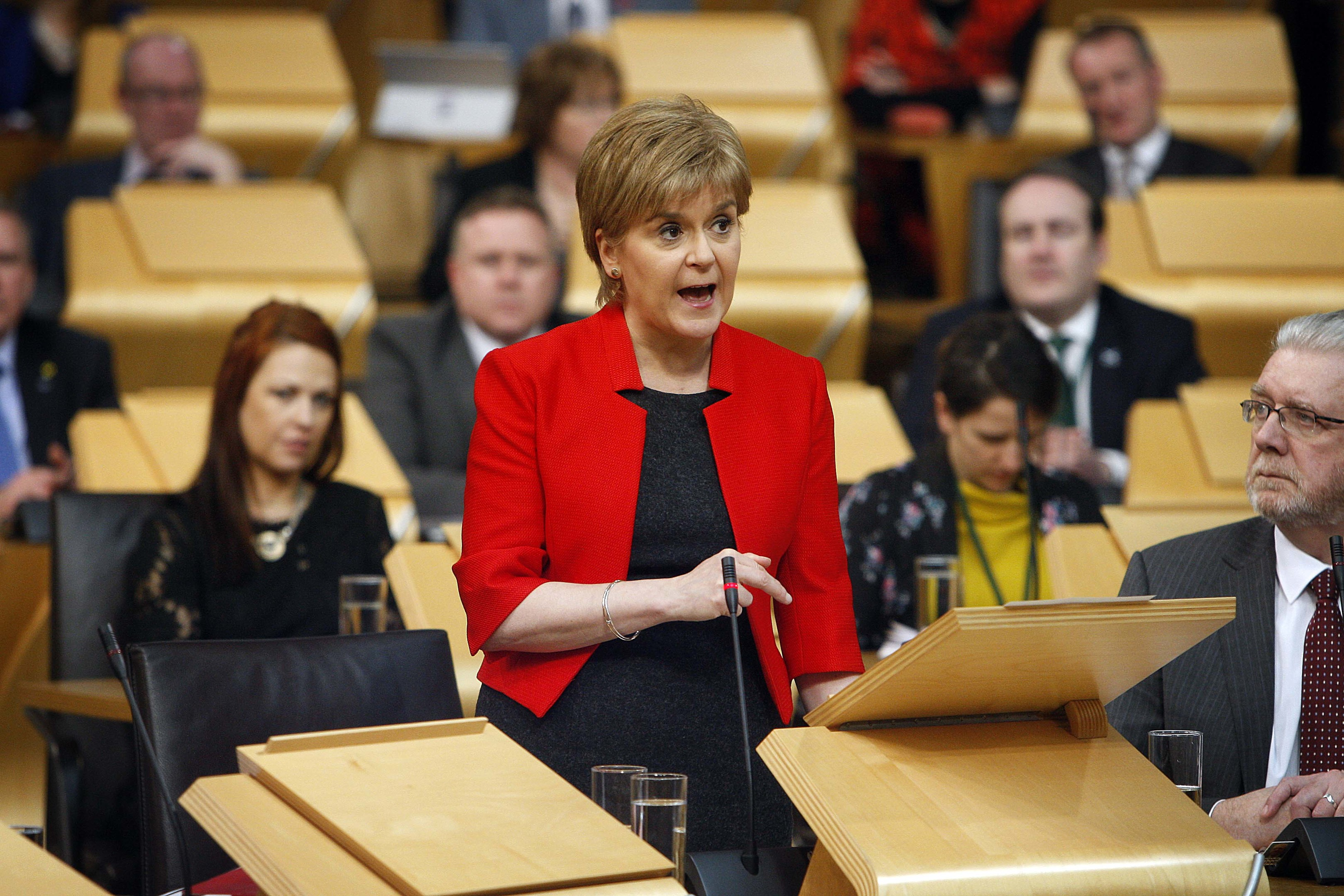 First Minister Nicola Sturgeon opens the debate.