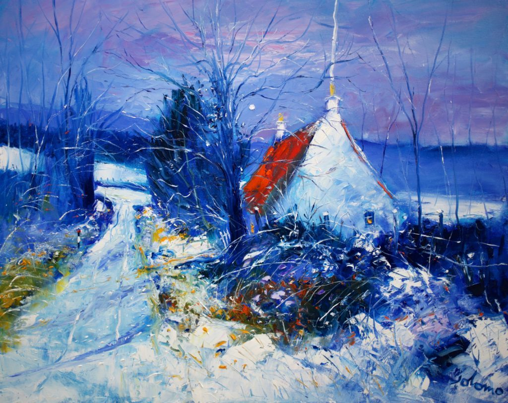 Jolomo's Heavy Snow on the Skipness Road - which inspired a Beatles hit - is featured in the Gallery Q exhibition.