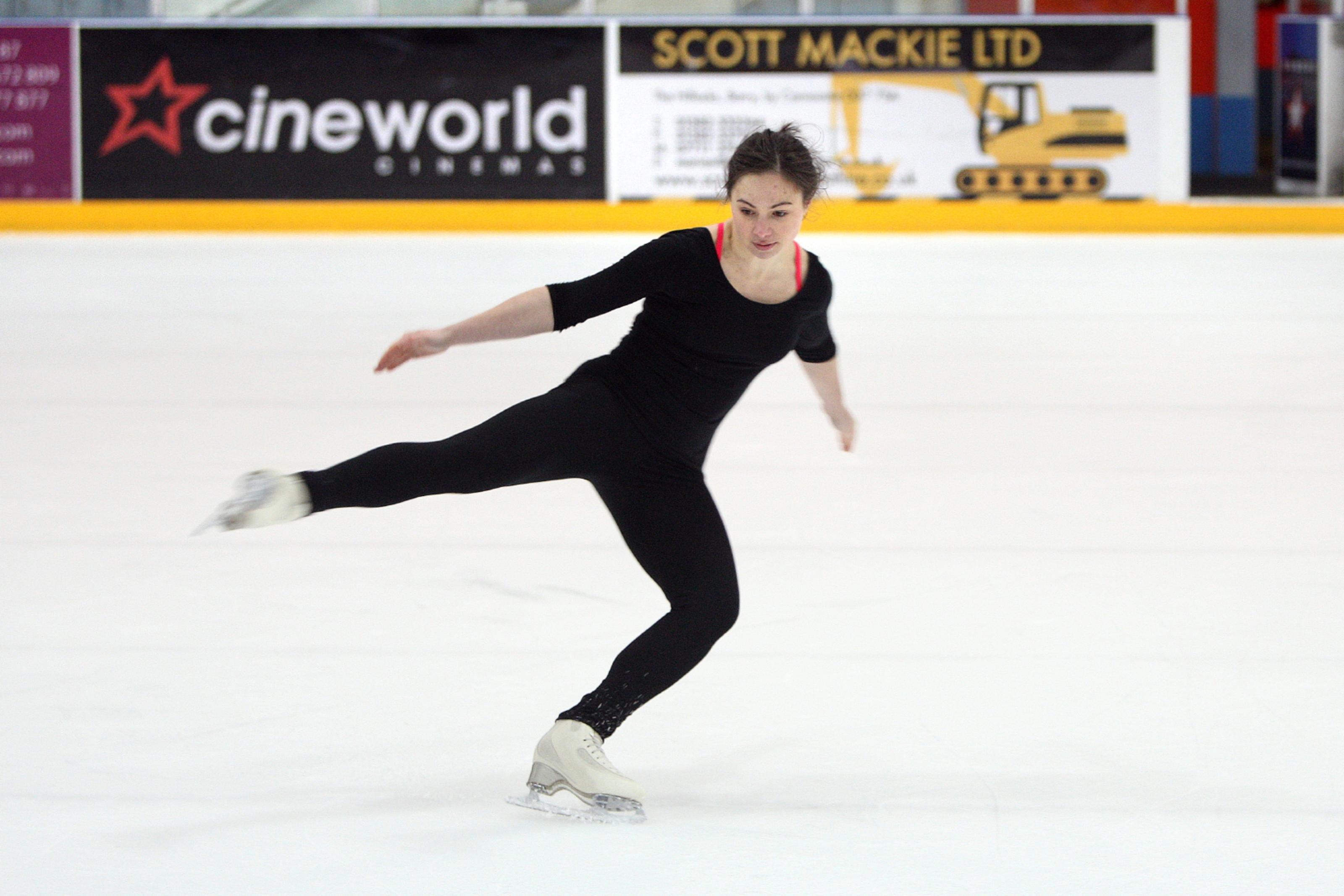 Katie Powell on the ice.