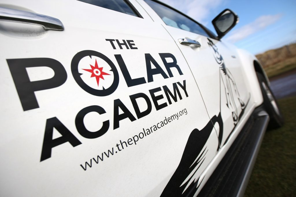 The Polar Academy truck - which the teenagers were able to pull!