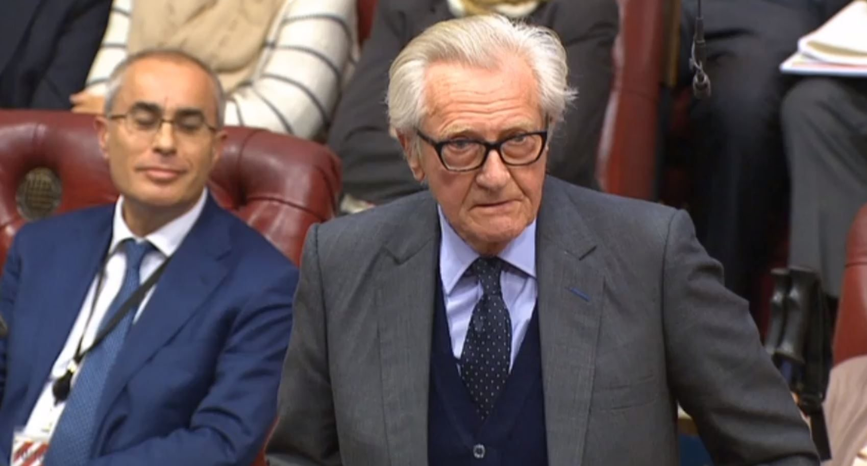 Lord Heseltine speaks in the House of Lord, as they debate the Brexit Bill.