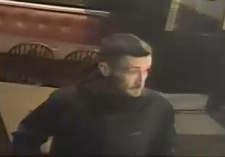 A CCTV image of the man  police are looking for.