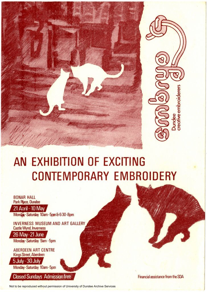 MS 317-4-7-1 Embryo Dundee Creative textiles flyer, 1980s