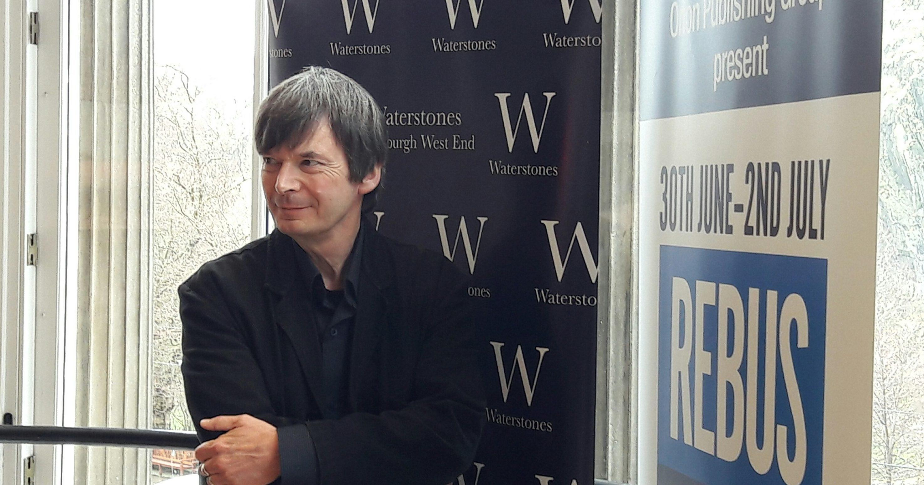 Ian Rankin at the Rebusfest launch in Edinburgh