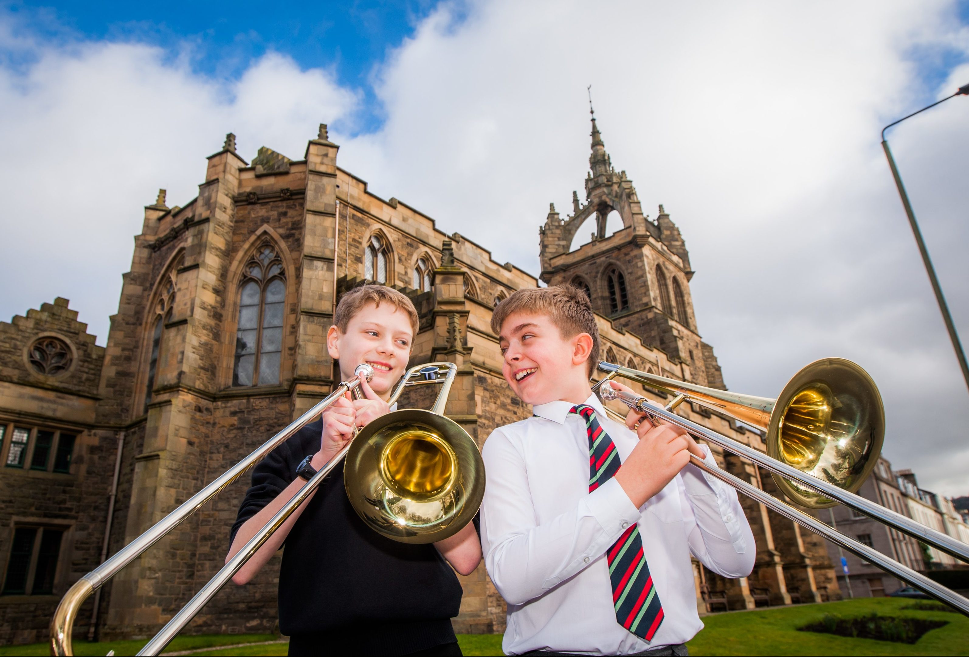 Elliot Soreide (Perth High School, left) and Leo Rodger (RDM Primary School, right) who took part in the trombone solo, elementary class.