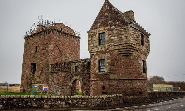 Burleigh Castle, which lies just outside Milnathort and across the road from the site of a proposed tourism development.