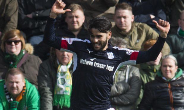 Faissal El Bakhtaoui celebrates his goal.