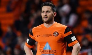 Craig Conway back in tangerine at Tannadice on Tuesday night.