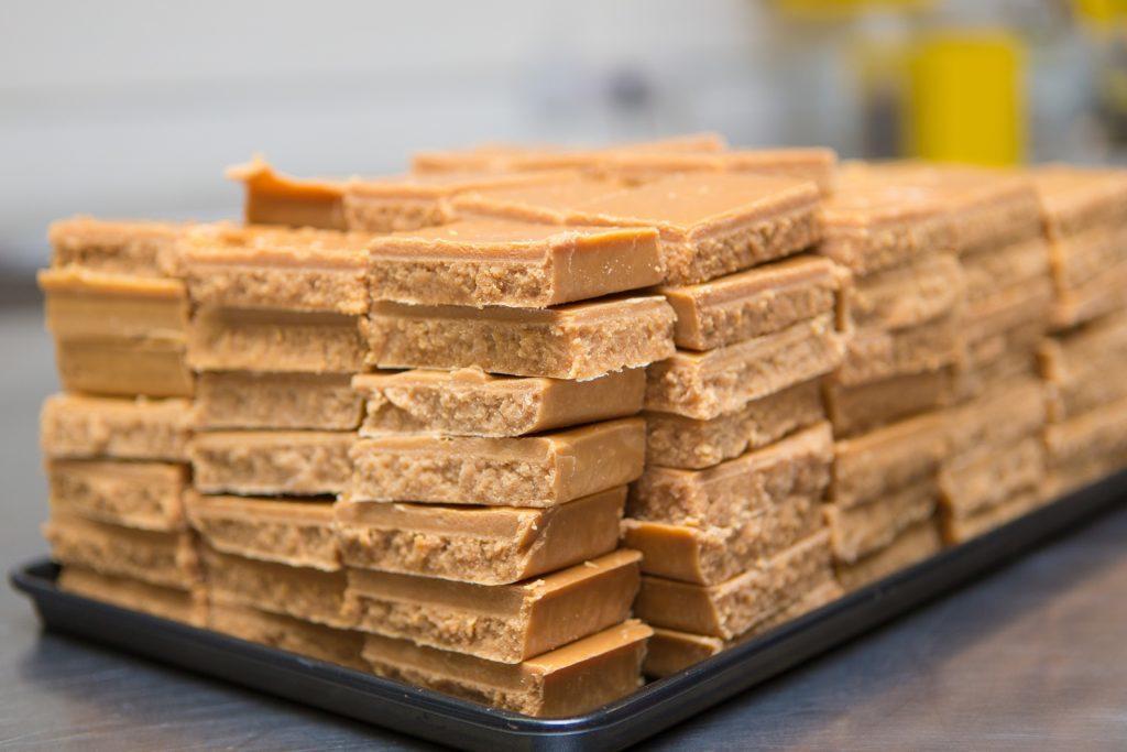 Yum! Blocks of mouthwatering fudge.