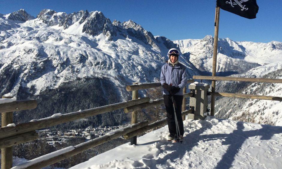Lauren on the slopes.