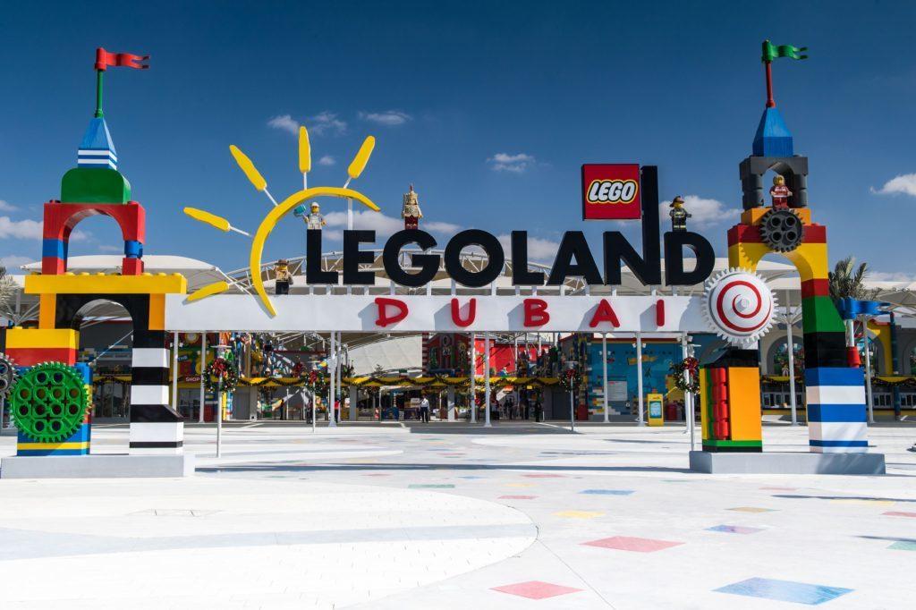 Photo of the Legoland Dubai entrance gate.