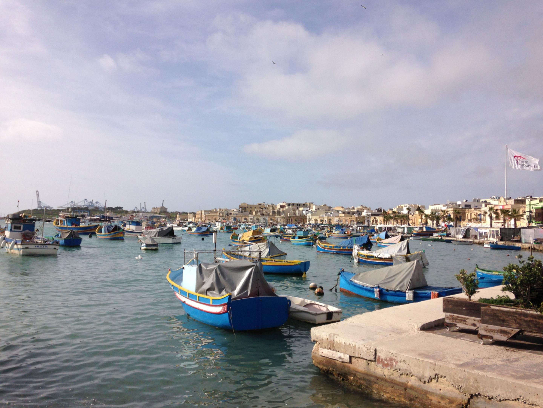Photo of Marsaxlokk harbour.
