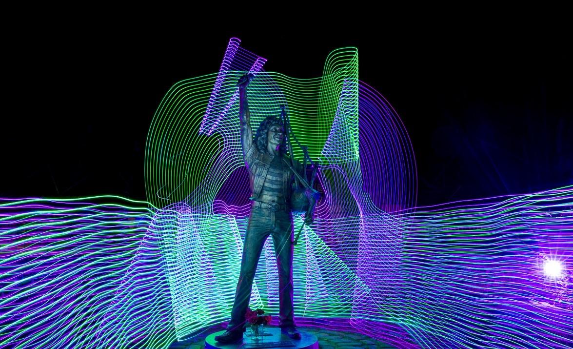Kirriemuir's Bon Scott statue by Craig Cantwell.