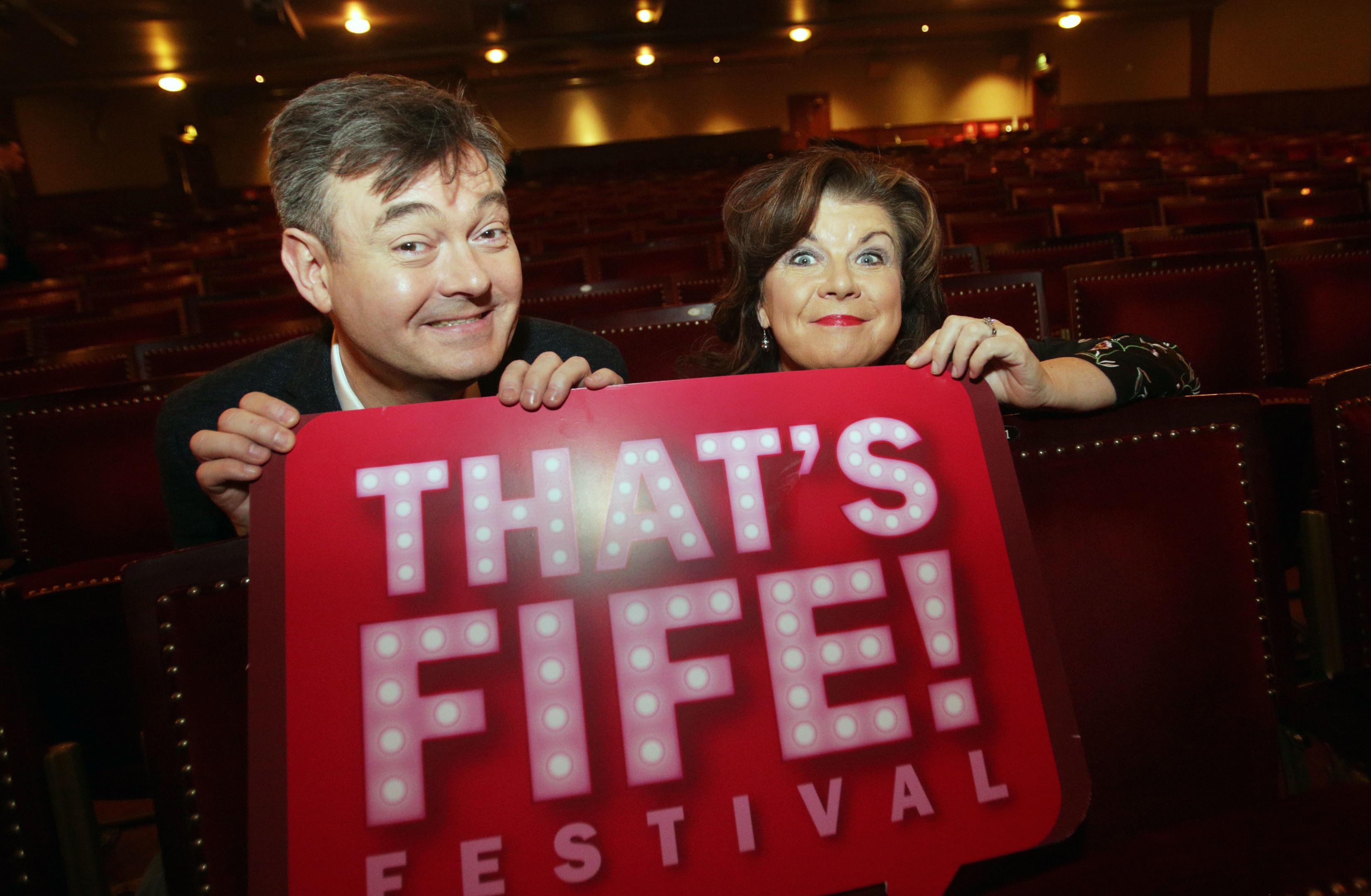 Grant Stott and Elaine C Smith launch the festival.