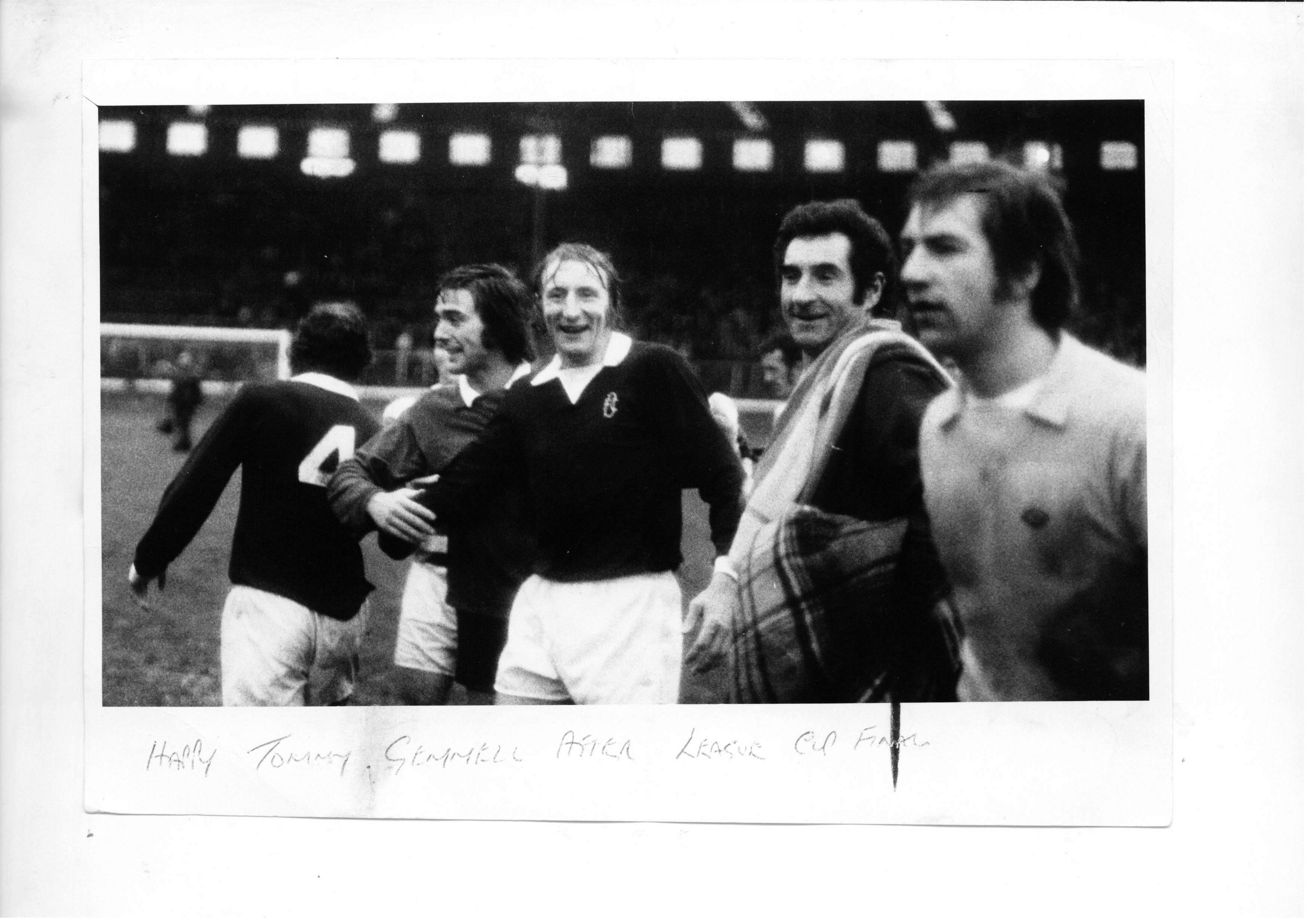 Tommy Gemmell after Dundee's League Cup victory in 1973.