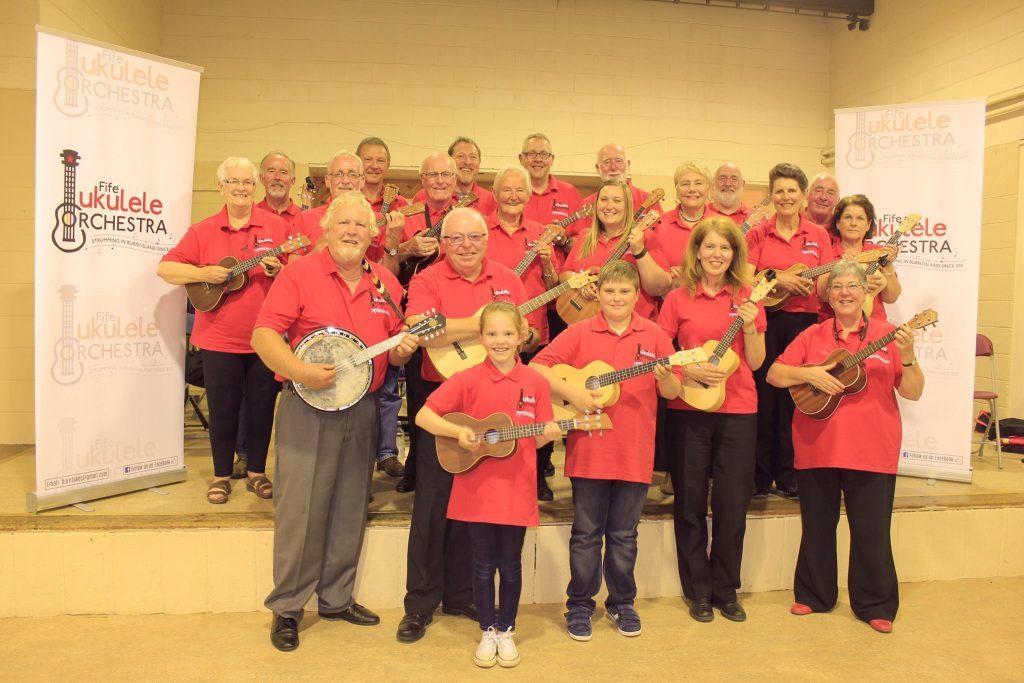 The Fife Ukulele Orchestra has inspired Chris Mitchell to take ukuleles to the Greek islands