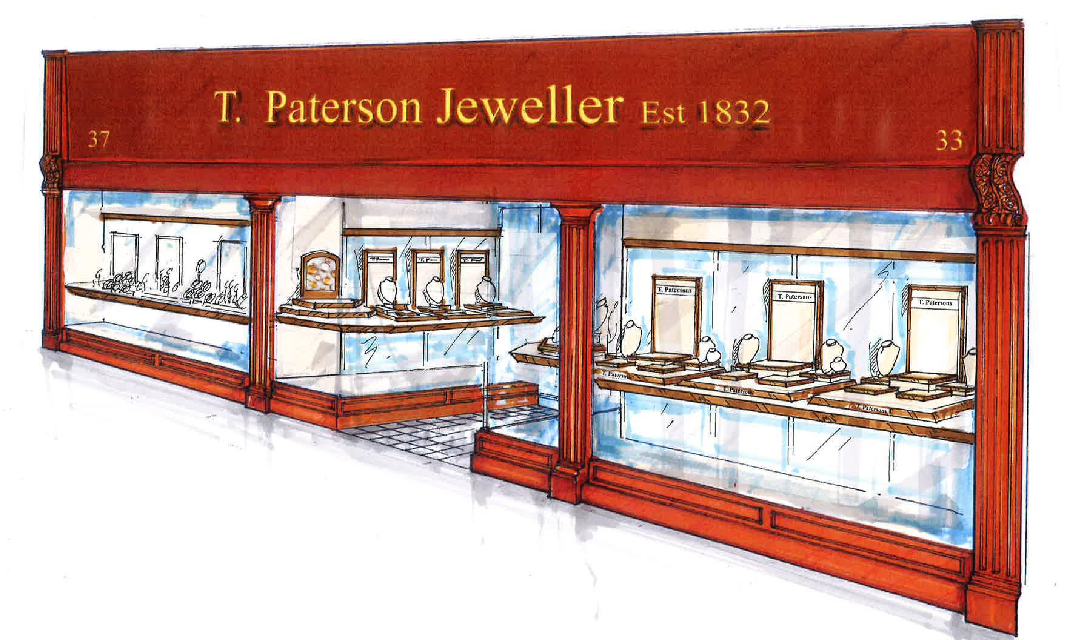 An impression of the new, expanded jewellers in Perth will look like.
