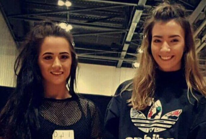 Christy (left) and Eden (right) were specially selected for the Hollywood training camp