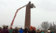 VIDEO: Pupils have smashing fun as Falkland's landmark chimney is demolished