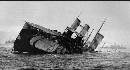 HMS Campania sinking off Burntisland