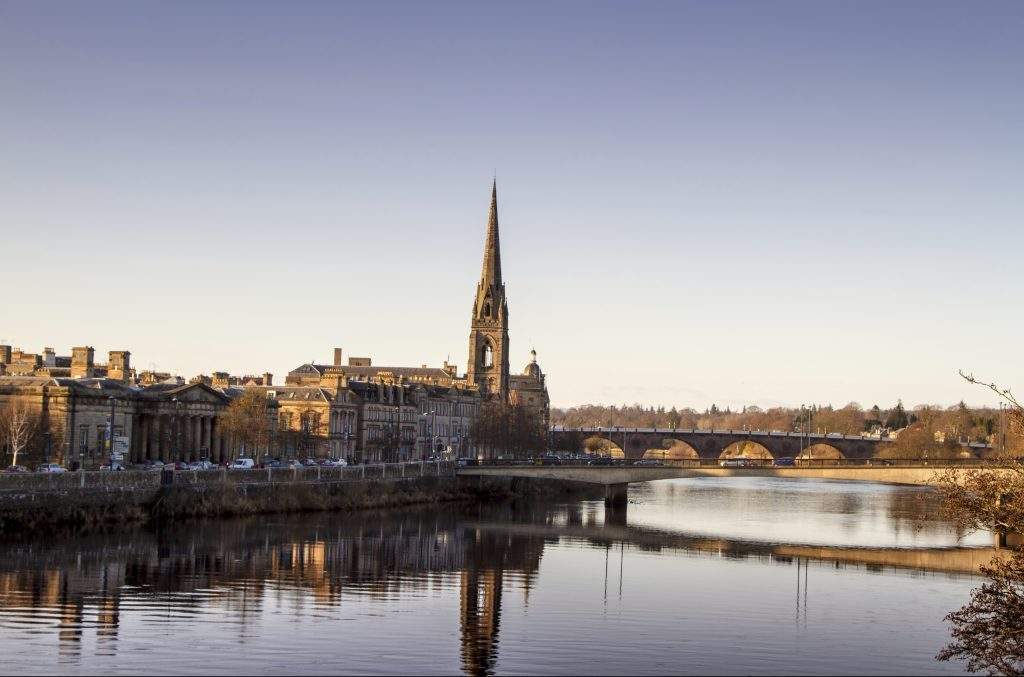 Perth - described as posher and duller than Dundee