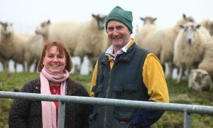 Julie farms at Wester Coul, Glenisla, alongside her partner Andrew Scott.
