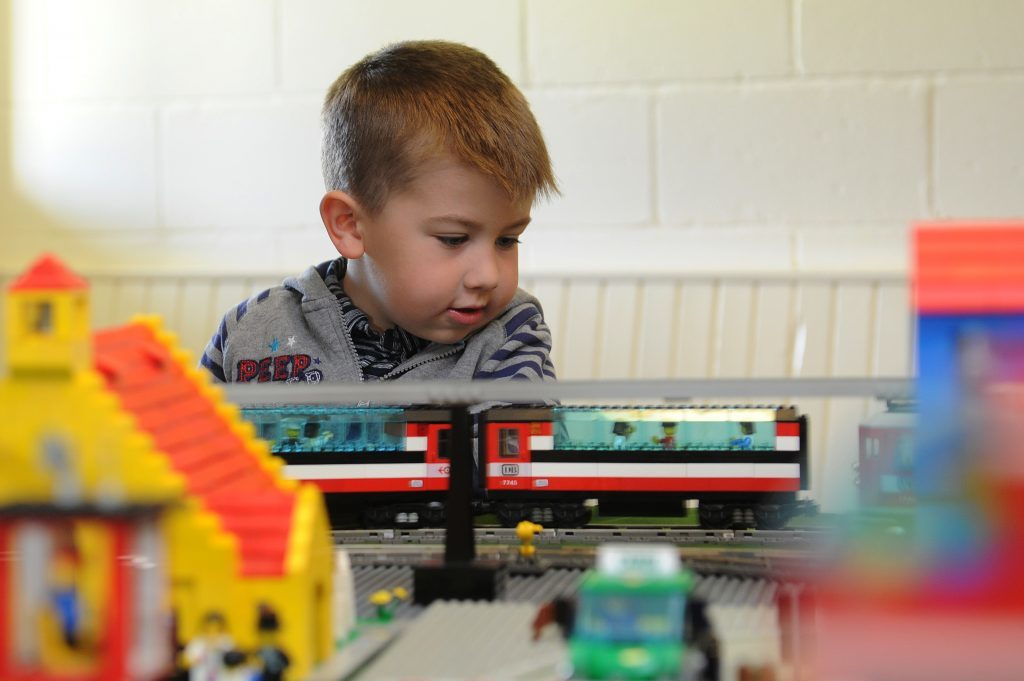 Fife Model Railway Club hosted an exhibition - Josh Tallis enjoyed controlling the lego trains