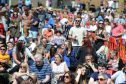 Courier News - Dundee - Ciaran Sneddon story - The Dundee Westfest Big Sunday event. Picture shows; the crowd enjoying the sun and entertainment, Magdalen Green, Dundee, Sunday, 05 June 2016