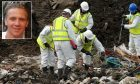 Police search a landfill site in Milton, Cambridgeshire, for missing RAF gunner Corrie McKeague (inset).