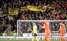 10/03/17 LADBROKES CHAMPIONSHIP   DUNDEE UNITED v HIBERNIAN  TANNADICE PARK - DUNDEE   Dundee United fans protest to chairman Stephen Thompson