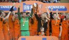 25/03/17 IRN-BRU CUP FINAL  DUNDEE UTD v ST MIRREN  FIR PARK - MOTHERWELL  Dundee Utd celebrate after winning the Irn-Bru Cup