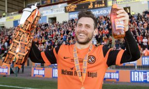 25/03/17 IRN-BRU CUP FINAL  DUNDEE UTD v ST MIRREN  FIR PARK - MOTHERWELL  Dundee Utd's Tony Andreu celebrates with the Irn-Bru Cup