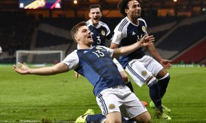 Scotland 1 Slovenia 0: Chris Martin the unlikely hero as Scots keep hopes alive