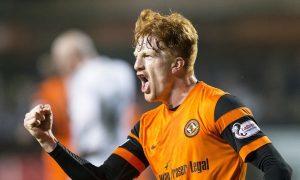 28/03/17 LADBROKES CHAMPIONSHIP   DUNDEE UTD v AYR UTD   TANNADICE - DUNDEE   Dundee United's Simon Murray opens the scoring