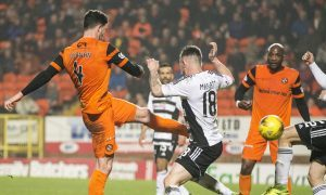 28/03/17 LADBROKES CHAMPIONSHIP   DUNDEE UTD v AYR UTD   TANNADICE - DUNDEE   Dundee United's Mark Durnan puts his side in front