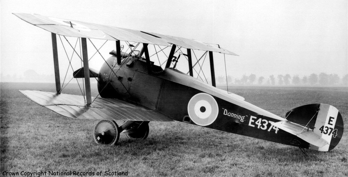 "The ""Dunning"" Sopwith Camel pictured in France."
